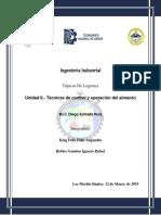 Unidad II.- Técnicas de control y operación del almacén