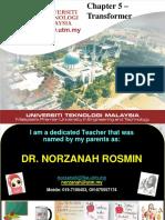 [Slide_Dr Norzanah] Chapter 5 Transformer