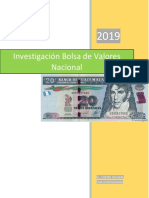 Investigación Bolsa de Valores Nacional