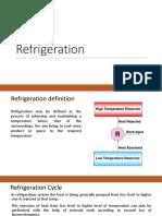 Unit III - Refrigeration