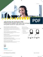 En Jabra Evolve 20 20SE Datasheet 2018