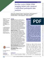 Lactobacillus Reuteri DSM 17938 for Managing Infant Colic