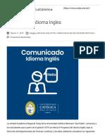 Examen Inglés Toelf Comunicado Idioma Ingles – #ViveLaCatolica
