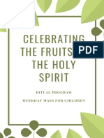 celebrating the fruits of the holy spirit