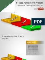 4026 3d Arrow Development Process Powerpoint Template