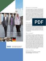 Daad Helmut Schmidt Programm 2018 Programmflyer