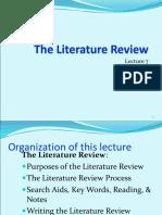 ERM the Literature Review Unit II