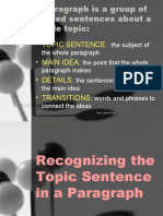 ELP Topic Sentence Supporting Deatils Thesis Statement