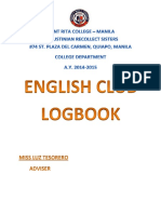 English Club Logbook