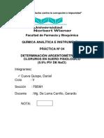 Practica 4 Determinacion NACIONAL DE LA MAGNITUD 2018