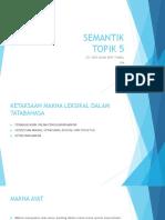 SEMANTIK TOPIK 5
