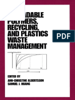 [Plastics Engineering] Albertsson - Degradable Polymers, Recycling, And Plastics Waste Management (1995, CRC Press)