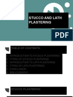 Stucco and Lathe Plastering