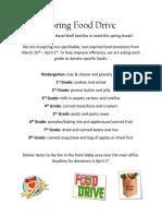 Food Drive Flier Spring 2019-2