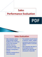 12. Sales Performance Evaluation
