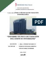 Informe de Tasación - Edificio Interbank