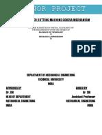 Minor Project for GENEVA MECHANISM