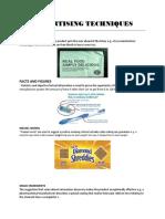 ADVERTISING TECHNIQUES 1.docx
