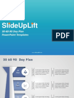 SlideUpLift | 30 60-90 Day Plan PowerPoint Templates | 30-60-90 Day Plan PPT Slide Designs
