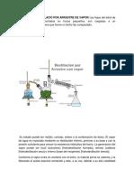 Extracción Destilació Por Arrastre de Vapor