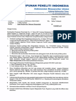 Surat Iuran Himpenindo Kaltim 2019