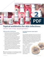 TOPICAL ANTIBIOTICS FOR SKIN INFECTIONS