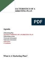 Characteristics of a Marketing Plan