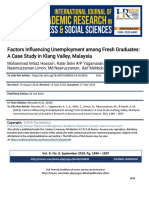 Factors Influencing Unemployment Among Fresh Graduates a Case Study in Klang Valley Malaysia