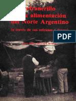 Refranerillo de La Alimentacion Del Norte Argentino
