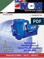 MCM 250 Series Centrifugal Pump Catalog Brochure Information Sheet