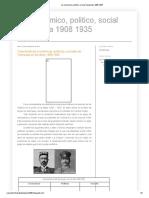 Juan Vicente Gomez aspectos económicos sociales y politicos