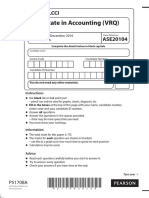 LCCI L3 Accounting ASE20104 Dec 2016
