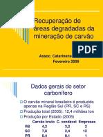Recuperacao de Areas Degradadas Da Mineracao de Carvao