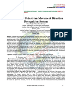 A Review on Pedestrian Movement Direction Recognition System