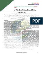 GSM Based Wireless Notice Board Using ARDUINO