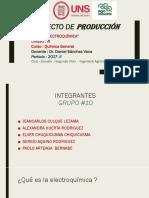 Proyecto de Producción QUIMICA