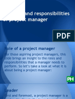 The Role of the Project Manager 2