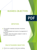 Business Objectives 2019