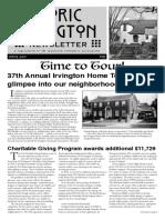Historic Irvington Newsletter - 2019 Spring