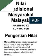 Nilai Tradisional Masyarakat Malaysia