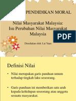 Isu Perubahan Nilai Masyarakat Malaysia