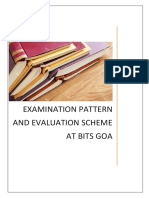 Examination Pattern and Evaluation Scheme at BITS Goa