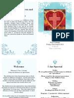 the little children and jesus - ritual service handout