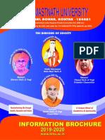 Information Brochure Baba Mast Nath University, Asthal Bohar, Rohtak-124021