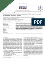 Caracterización de La Olivetol Sintasa, Una Policétido Sintasa Implicada Supuestamente en La Ruta Biosintética de Los Cannabinoides