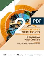Programa y Resúmnes 2º MiniCongreso Geológico 2018