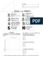 Atividade avaliativa Critérios de divisibilidade - 6º ano.