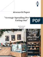 Average Spending Per Week on Eating Out