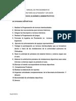Procedimientos - Actividades Deportivas (Rev00102018)