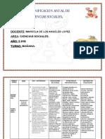 Planificacion Anual Sociales a . 6º